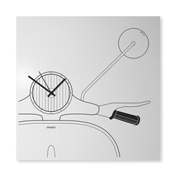 dESIGNoBJECT wall clock SCOOTER