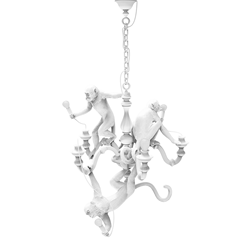 SELETTI suspension lamp MONKEY CHANDELIER WHITE