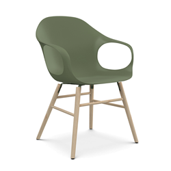 KRISTALIA armchair on wooden base ELEPHANT