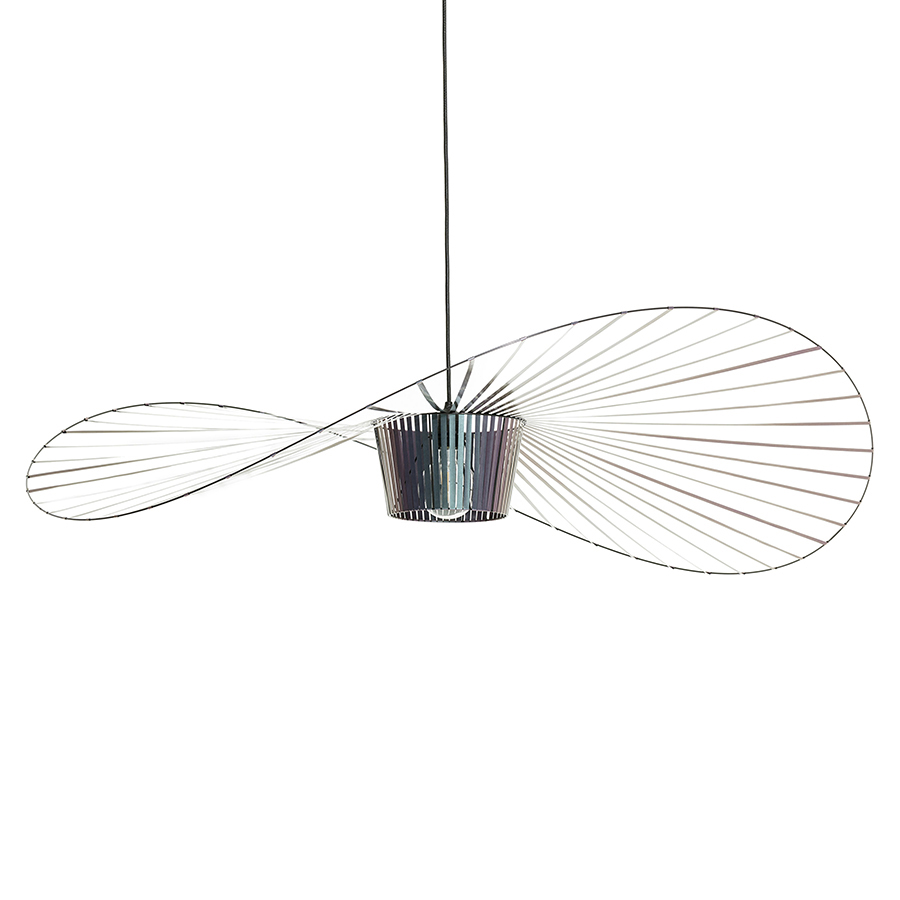 Ampoule Vertigo Petite Friture petite friture lampe à suspension vertigo (grand / scarabée noir irisé -  fibre de verre et polyuréthane)