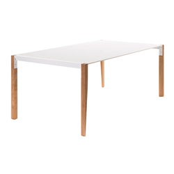 HORM rectangular table TANGO with white Fenix top