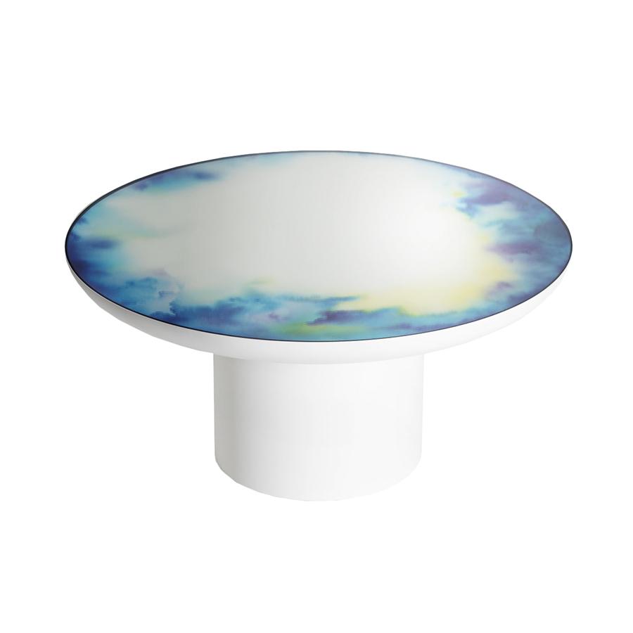 Petite Friture Table Basse Francis Large Bleu Jaune Avec Base