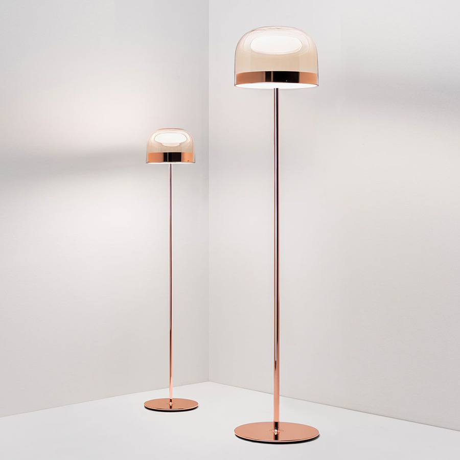 FONTANA ARTE lampada da terra EQUATORE LARGE (Rame lucido - Vetro e metallo)