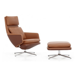 VITRA swivel lounge chair GRAND RELAX & OTTOMAN