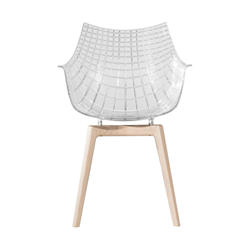 DRIADE armchair with wooden legs MERIDIANA