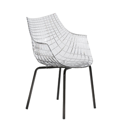 DRIADE armchair with black legs MERIDIANA