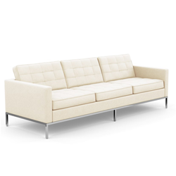 KNOLL sofa with 3 seaters FLORENCE in fabric