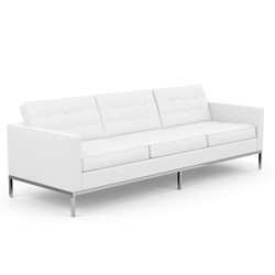 KNOLL sofa with 3 seaters FLORENCE in leather