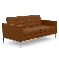 KNOLL sofa with 2 seaters FLORENCE in leather