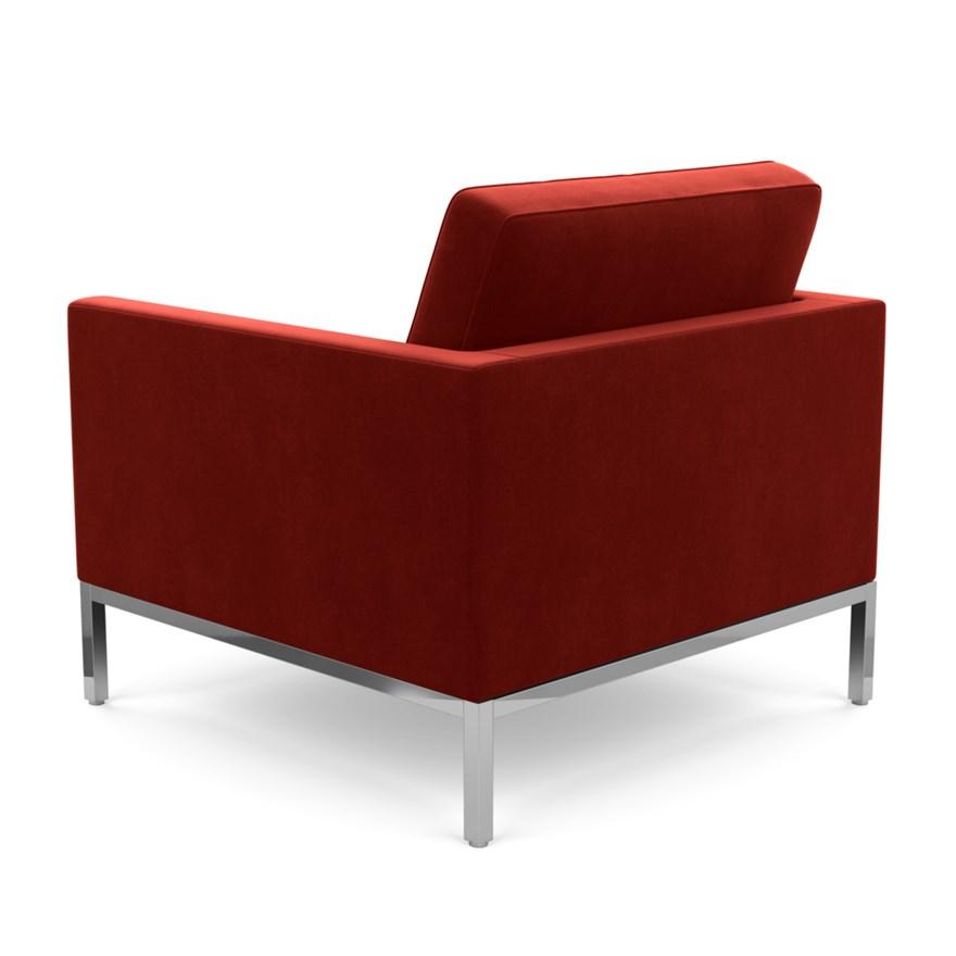 Tomato Revêtement acier structure en tissuKnoll fauteuil en Velvet tissu CatB en FLORENCE chromé et KNOLL cAqj35S4LR