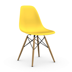 VITRA chair with honey base Eames Plastic Side Chair DSW NEW DIMENSIONS