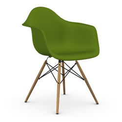 VITRA Eames Plastic Armchair with honey base DAW NEW DIMENSIONS