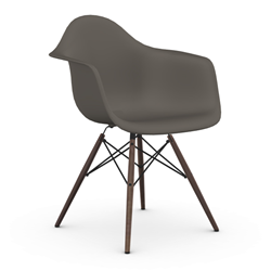 VITRA Eames Plastic Armchair with dark base DAW NEW DIMENSIONS