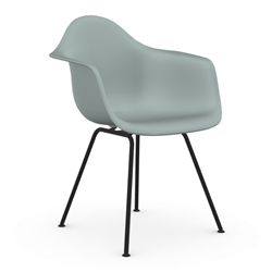VITRA Eames Plastic Armchair with black base DAX NEW DIMENSIONS