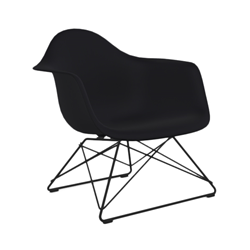 VITRA Eames Plastic Armchair with black base LAR