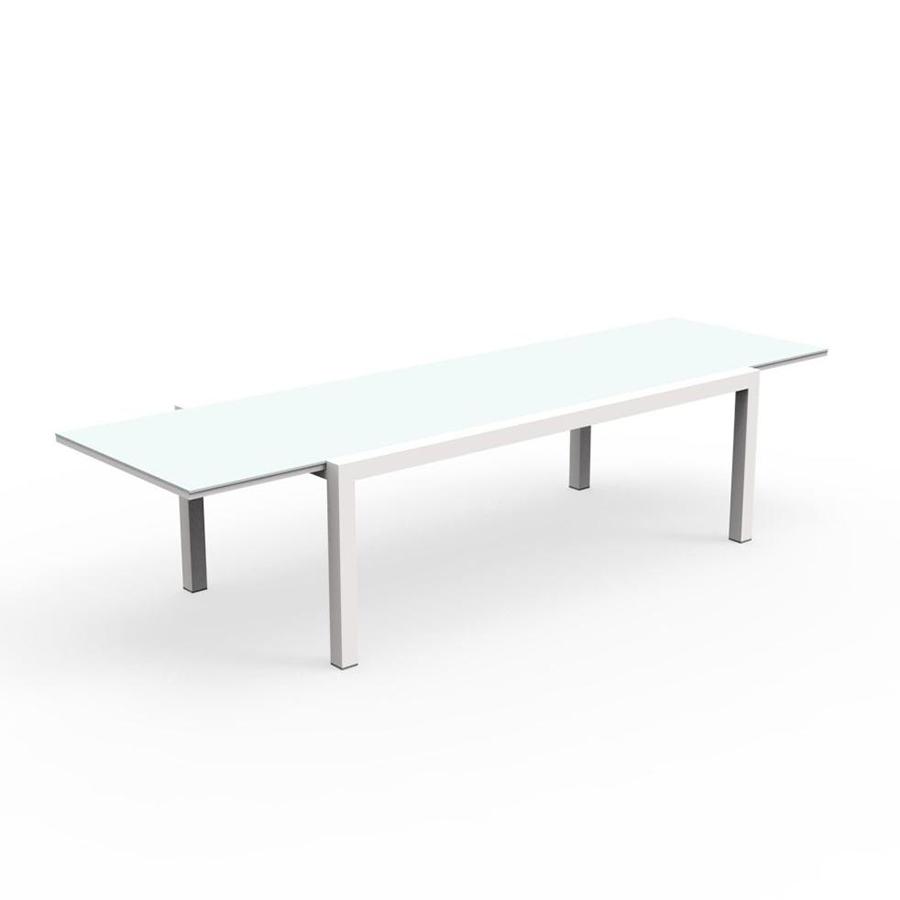 Talenti Tavolo Allungabile 220 330 Cm Da Esterni Touch Collezione Piutrentanove White Alluminio Verniciato E Vetro Myareadesign It