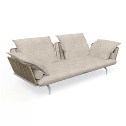 TALENTI outdoor 3 seater sofa CRUISE ALU Icon Collection