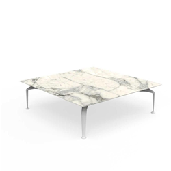 TALENTI outdoor coffee table 120x120 cm CRUISE ALU Icon Collection