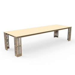 TALENTI outdoor extensible table 240-300 cm CLIFF Icon Collection