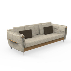 TALENTI outdoor 3 seater sofa DOMINO Icon Collection