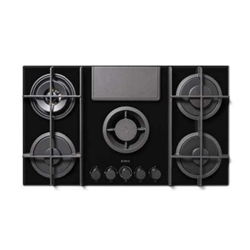 ELICA gas hob with duct-out hood NIKOLATESLA FLAME