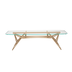 ZANOTTA table with glass top REALE CM