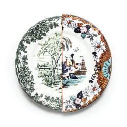 SELETTI set of 6 dinner plates HYBRID IPAZIA