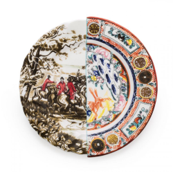 SELETTI set of 6 dinner plates HYBRID EUSAPIA