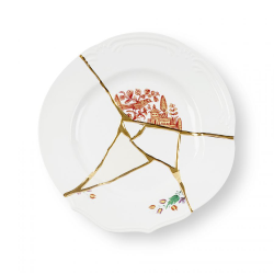 SELETTI set of 6 dinner plates KINTSUGI 09611