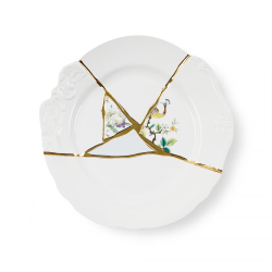 SELETTI set of 6 dinner plates KINTSUGI 09612
