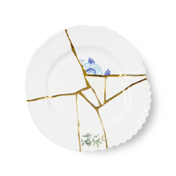 SELETTI set of 6 dinner plates KINTSUGI 09613