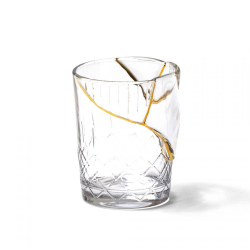 SELETTI set of 6 glasses KINTSUGI GLASS 09656