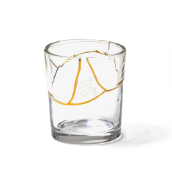 SELETTI set of 6 glasses KINTSUGI GLASS 6x09658