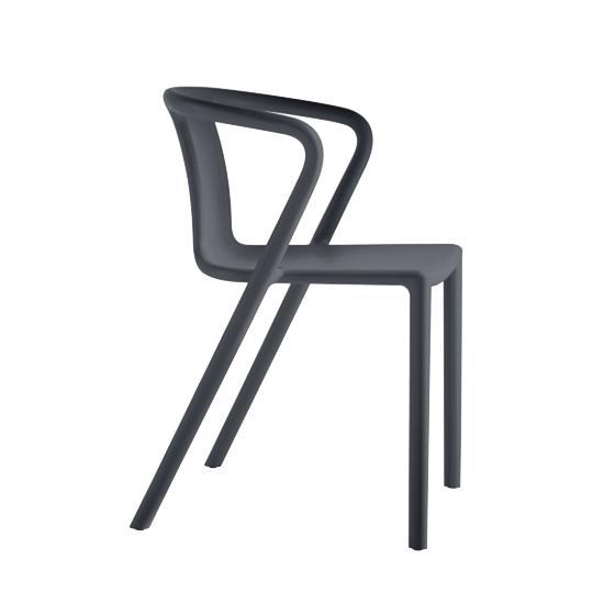 MAGIS set da 4 sedie con braccioli AIR-ARMCHAIR (Grigio ...