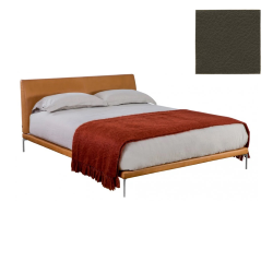 ZANOTTA double bed TALAMO with polished aluminum footsies for mattress 170 x 200 cm