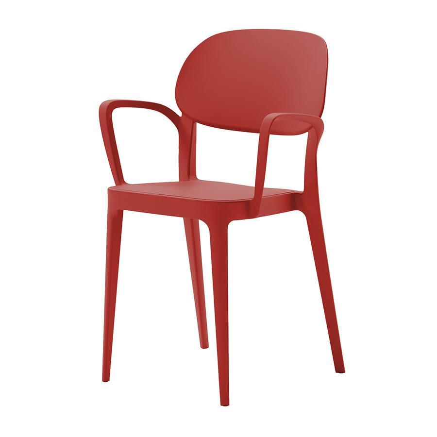 Alma Design Set Da 4 Sedie Con Braccioli Amy Rosso Mattone Polipropilene Myareadesign It