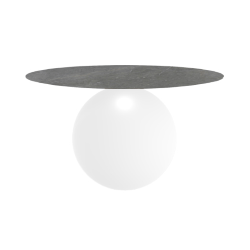BONALDO table ronde CIRCUS Ø 140 cm base blanc opaque