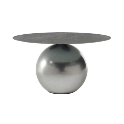 BONALDO table ronde CIRCUS Ø 140 cm base Clouded Chrome