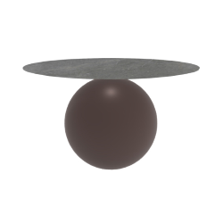 BONALDO table ronde CIRCUS Ø 140 cm base marron opaque