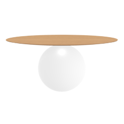 BONALDO table ronde CIRCUS Ø 180 cm base blanc opaque