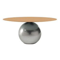 BONALDO table ronde CIRCUS Ø 180 cm base Clouded Chrome