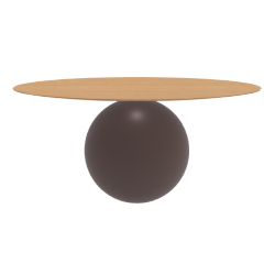 BONALDO table ronde CIRCUS Ø 180 cm base marron opaque