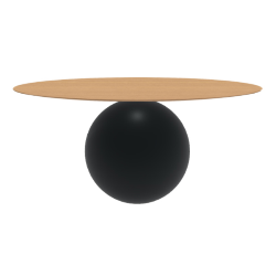 BONALDO table ronde CIRCUS Ø 180 cm base noir opaque