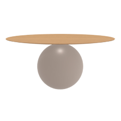 BONALDO table ronde CIRCUS Ø 180 cm base tourterelle opaque