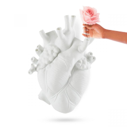 SELETTI heart shaped wall vase LOVE IN BLOOM GIANT