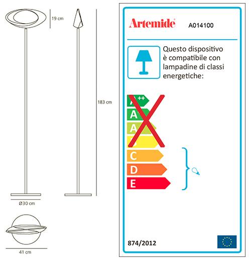 ARTEMIDE CABILDO LED FLOOR