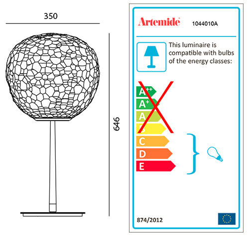 ARTEMIDE METEORITE TABLE STEM