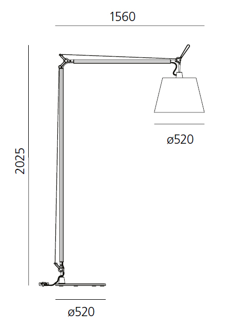 artemide floor lamp tolomeo maxi. Black Bedroom Furniture Sets. Home Design Ideas