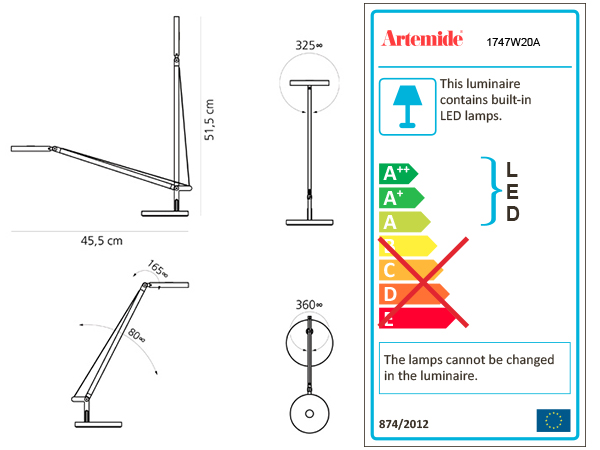 ARTEMIDE DEMETRA MICRO TABLE