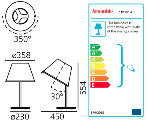 ARTEMIDE CHOOSE TABLE